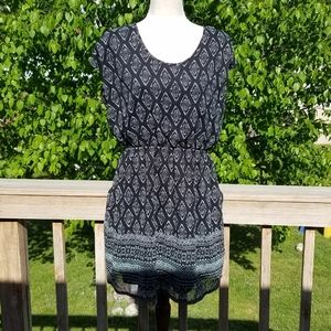 Maurices Black Patterned Mini Dress